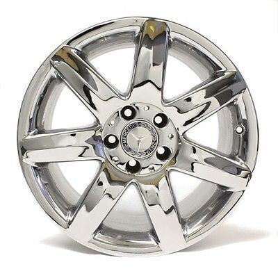 "17"" WHEEL MERCEDES BENZ SL500 SL55 2003 2004 TYPE 230 OEM 65278 CHROME 7 SPOKE"