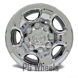 "17"" DODGE RAM 2500 3500 HD STEEL WHEEL OEM 2186 CHROME CLAD"