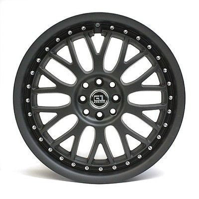 "18"" G1 RACING G87 WHEEL BLACK MATTE 8 LUGS 18X8"
