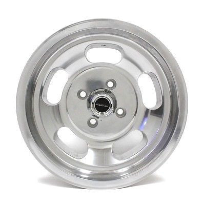 "15"" MHT WHEELS U101 INDY DISH MAG WHEELS POLISHED NEW (4) FORD CHEVY"