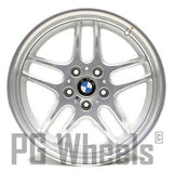 "18"" FRONT BMW 740i 750i 1998 1999 2000 2001 WHEEL OEM 59271 SILVER MACHINED"