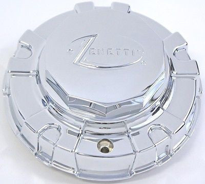 ZENETTI WHEEL ICE CENTER CAP CHROME NEW