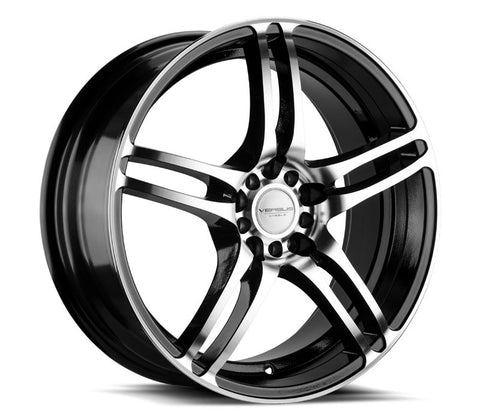"17"" VERSUS VS454 GLOSS BLACK MACHINED FACE 17X7.5"