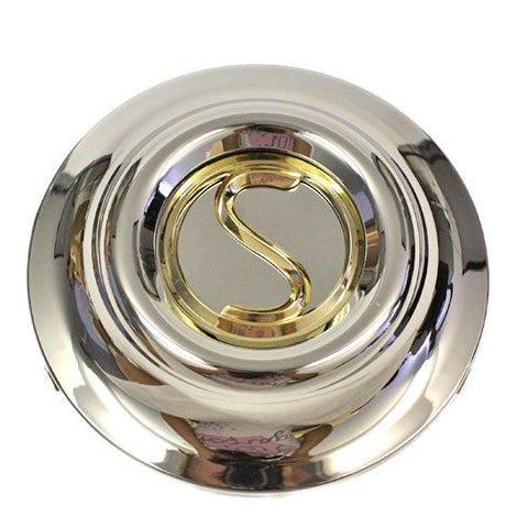 PRIME SUPERIOR ICW AMERICAN RACING WHEELS CENTER CAP CHROME GOLD