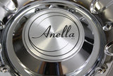 ANELLA WHEEL WISHBONE CENTER CAP CHROME NEW # C154