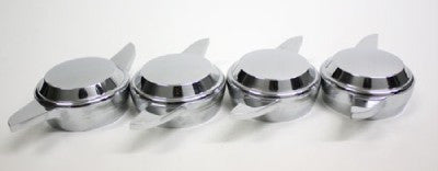 2 BAR SPINNERS CHROME KNOCK OFFS WIRE WHEEL LEFT SIDE RIGHT SIDE