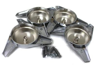 L//H GG Grand General 90347 Chrome Knock-Off Spinner 3 Bar Swept 2-1//2 Inches Wing