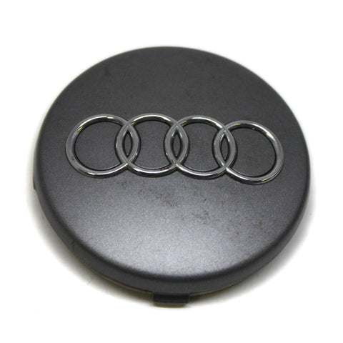 AUDI A SERIES OEM WHEEL CENTER CAPS DARK GREY # 4B0-601-170 SET OF 5