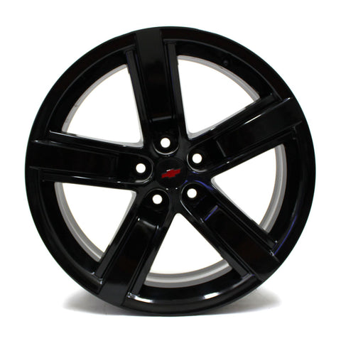 "20"" CHEVY CAMARO SS 2013 2014 2015 BLACK WHEELS OEM 5577 5582 (4) STAGGERED"
