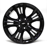 "18"" CHEVY IMPALA 2014 2015 WHEELS OEM 5 SPOKE BLACK (4)"