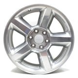 "20"" CHEVY SILVER TAHOE SUBURBAN SILVERADO 2007 2008 2009 WHEEL OEM 5308 POLISHED"