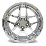 "18"" CORVETTE Z06 2006 CHROME WHEEL FRONT 18X9.5 REPLICA 5123"