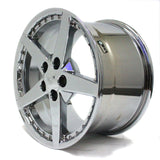 "18"" CHROME WHEEL CORVETTE C6 2005 2006 2007 REPLICA 18X10.5 NEW"