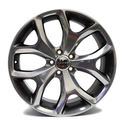 "20"" CHALLENGER CHARGER 2015 2016 2017 POLISHED GRAPHITE WHEEL OEM 2523"