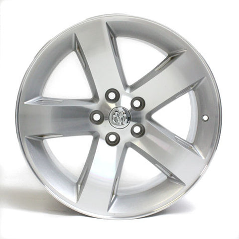 "18"" WHEEL DODGE CHALLENGER 2009 2010 MACHINED FACTORY OEM 2359 SILVER"