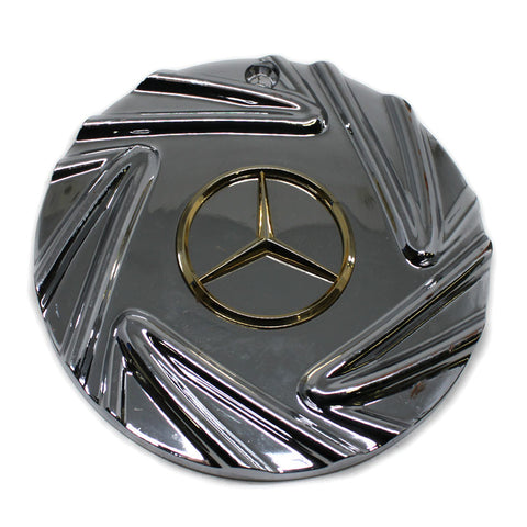 EPIC MERCEDES BENZ WHEEL CENTER CAP GOLD LOGO # 10908.REV.C NEW