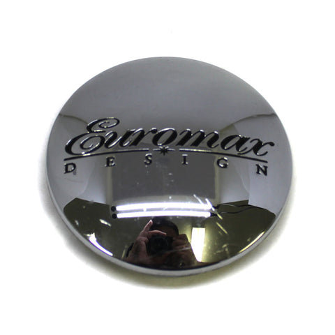 EUROMAX DESIGN WHEEL CHROME CENTER CAP # C-008-6 NEW