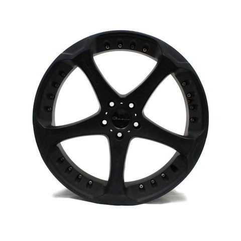 "22"" GIOVANNA DALAR 5 MATTE BLACK WHEEL 22X9"