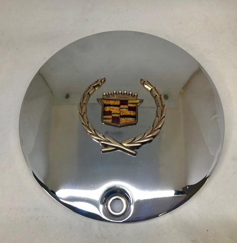 CADILLAC WHEEL PRO 31 CENTER CAP CHROME GOLD EMBLEM