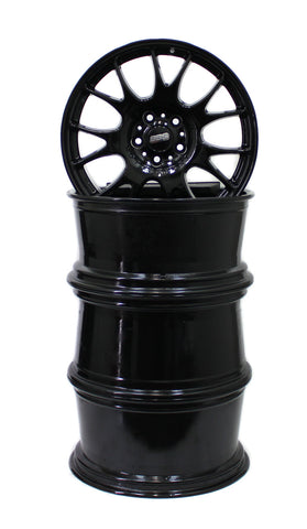 19X8.5 19X9.5 WHEELS BBS MOTORSPORT CH004 BLACK GLOSS SET OF 4