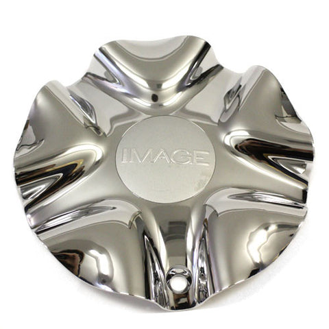 IMAGE ALLOY WHEEL STYLE 196 CHROME CENTER CAP 5 SPLIT #9600-0