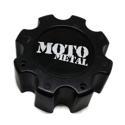 MOTO METAL WHEEL CENTER CAP BLACK # HE835B8165-AA USED