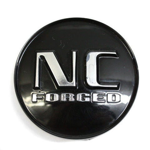NC FORGED WHEEL BLACK CENTER CAP #99-1372 USED