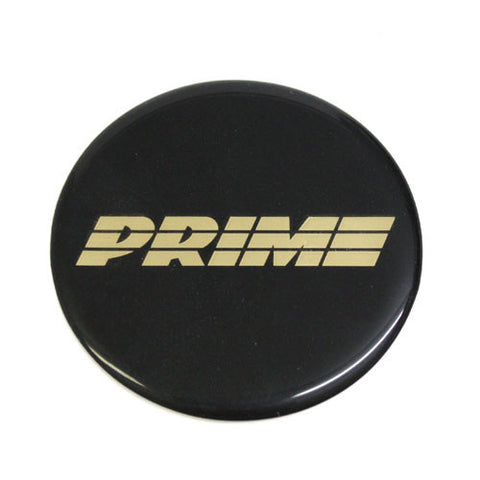PRIME WHEELS EMBLEMS GOLD LETTERS CAR OR TRUCK 70mm