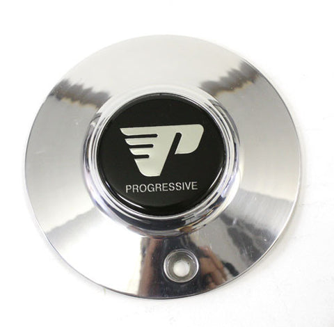"PROGRESSIVE WHEEL CENTER CAP POLISHED ""6 NEW"
