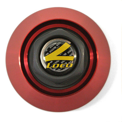 TEAM LOCO FORGED WHEEL CENTER CAP RED #89-9117 NEW
