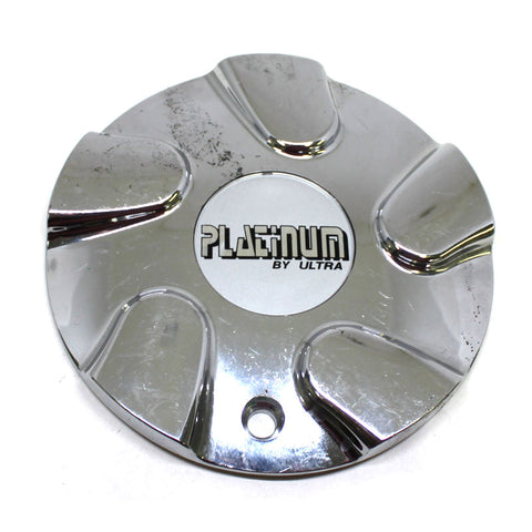 ULTRA PLATINUM WHEEL CHROME CENTER CAP # 89-9111 USED