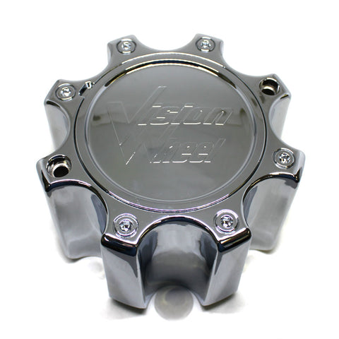 VISION WHEEL CHROME CENTER CAP 8 LUGS # C375-8DOC NEW