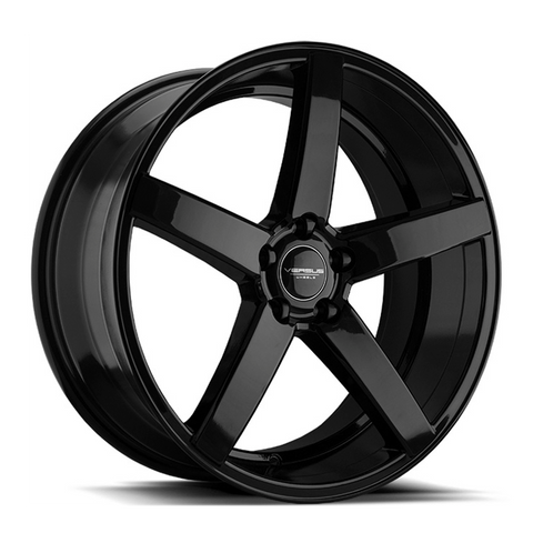 "18"" VERSUS WHEELS VS541 GLOSS BLACK STAGGERED NEW SET"