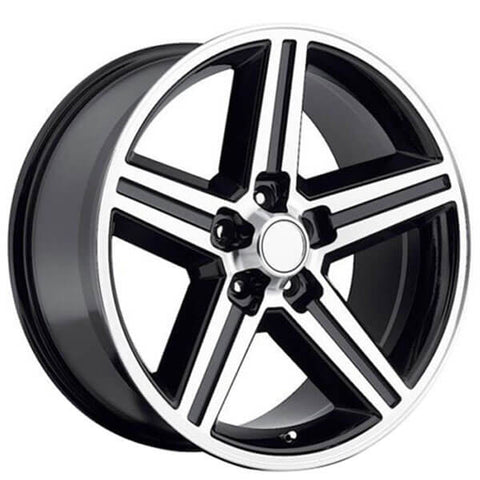 "22"" IROC WHEELS BLACK MACHINED 5-LUG"