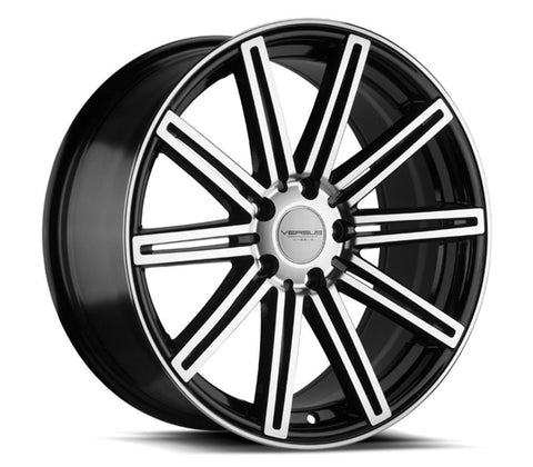 "18"" VERSUS WHEELS VS170 18x8 GLOSS BLACK MACHINED FACE"