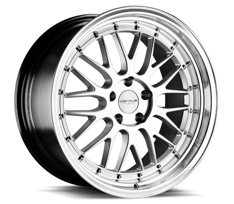 "19"" VERSUS WHEELS VS243 SILVER MACHINED LIP 19X8.5"