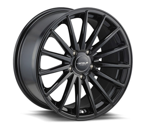 "17"" VERSUS WHEELS VS74 GLOSS BLACK 17X8"