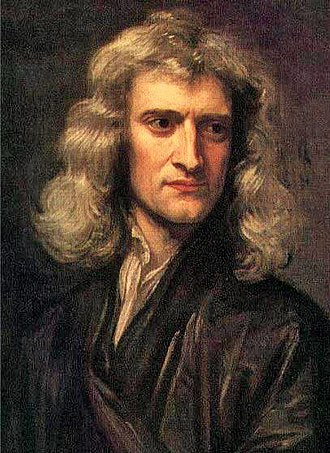 Isaac Newton wondering where his lost socks went