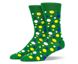 Mens Multi Shape Polka Dot Socks