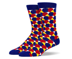 Mens Crazy Polka Dot Socks