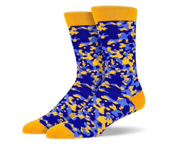 Mens Orange Camouflage Socks