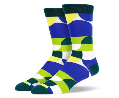 Mens Green Art Socks