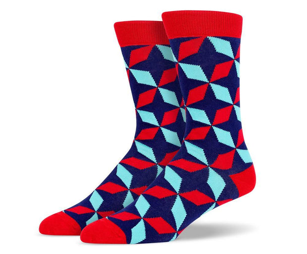 Mens Diamond Flower Socks