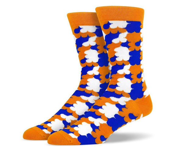 Mens Orange Cloud Socks