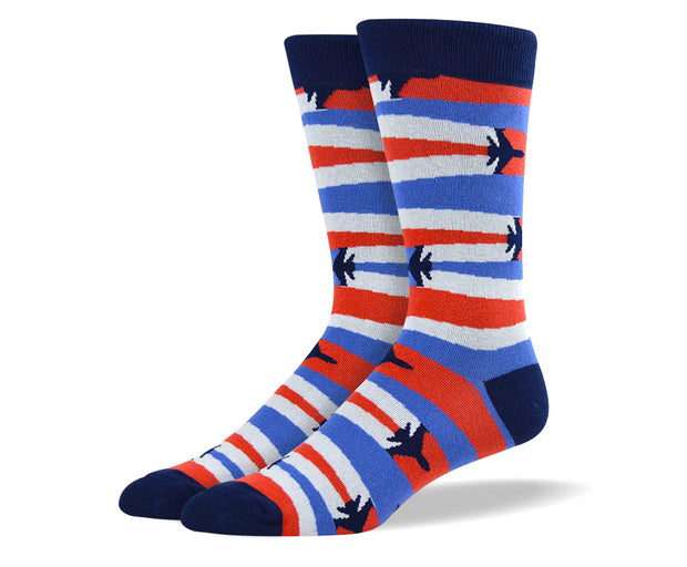Men's American Patriot Airplane Socks