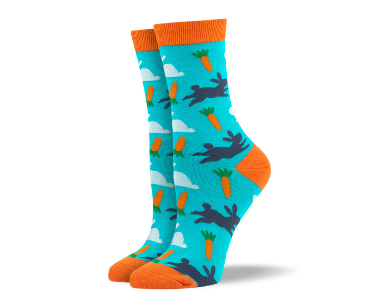 Womens Blue Easter Dress Socks
