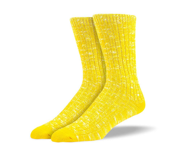 Men's Yellow Casual Crew Socks