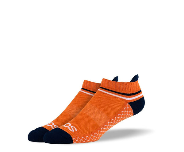 Mens Orange Ankle Athletic Socks