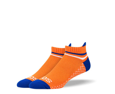 Men's Orange & Blue Athletic Ankle Socks