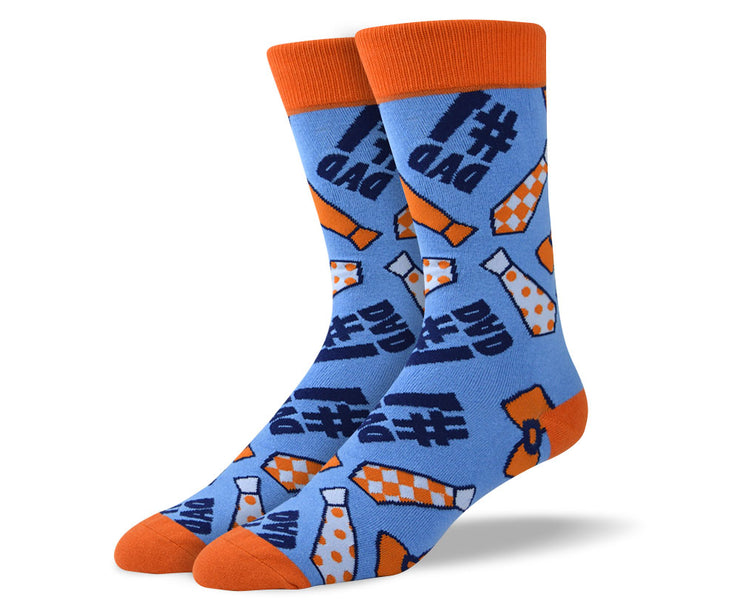 Mens Fathers Day Socks - #1 Dad